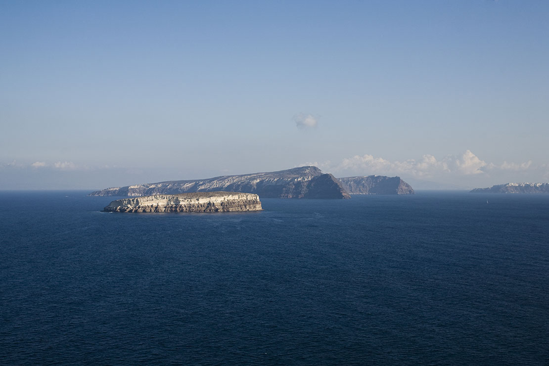 Caldera view from Faros, Santorini, Greece