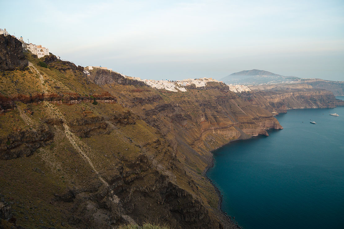 Caldera cliffs in Imerovigli village, Santorini